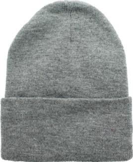 Solid Colored Beanie - Dark Grey