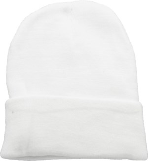 Solid Colored Beanie - White