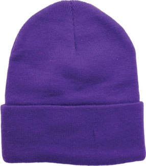 Solid Colored Beanie - Purple