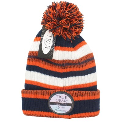 True Gear Pom Beanie - Navy Orange White - hats - Militti Sales ... 561d7cbac36