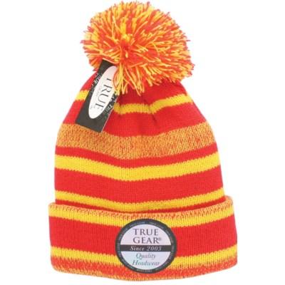 9b30f1d6056 True Gear Pom Beanie - Red Gold White - hats - Militti Sales ...