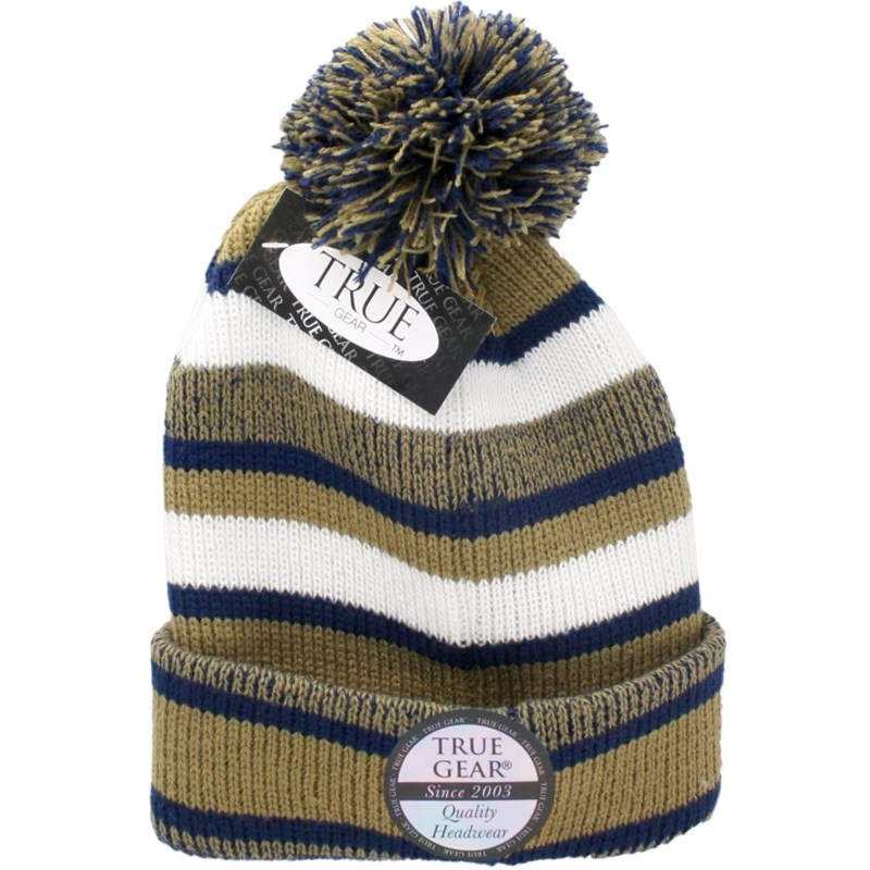 True Gear Pom Pom Cap - Gold/Blue/White