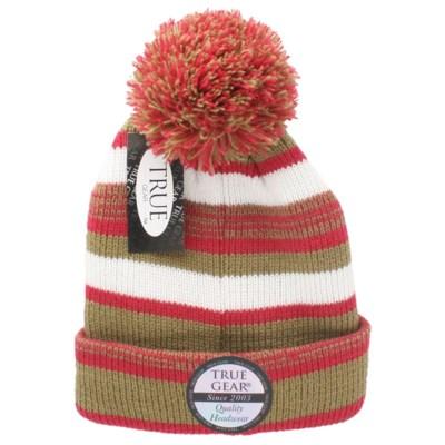 c50ba3b9d23 True Gear Pom Pom Cap - Red Gold White - hats - Militti Sales ...
