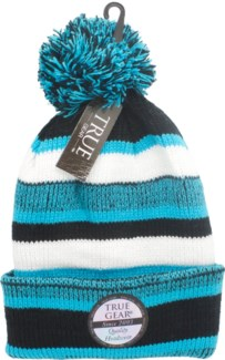 True Gear Pom Beanie - Blue/White/Black