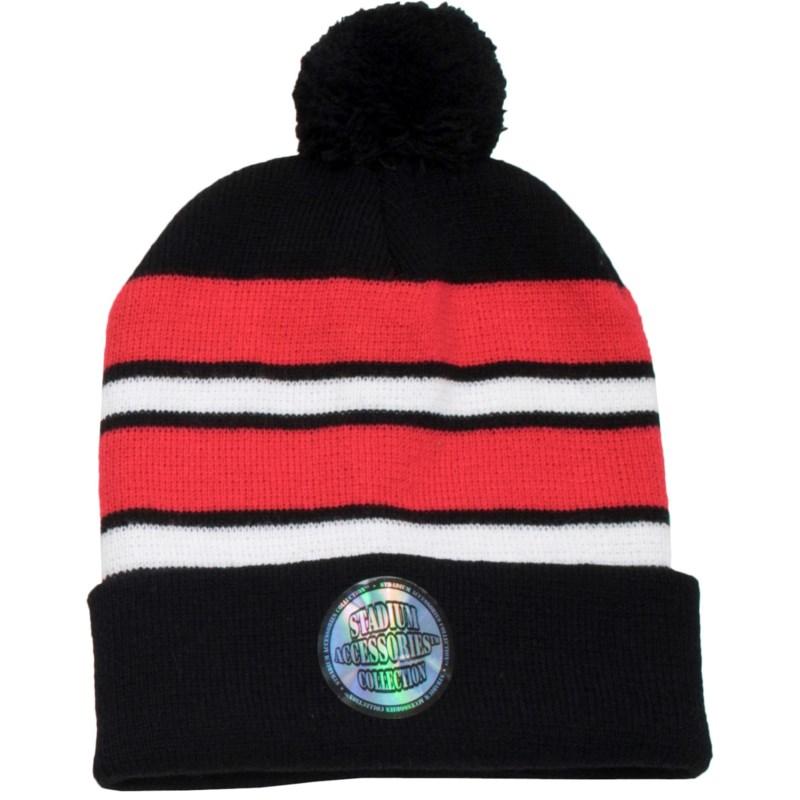 Pom Beanie Red/White/Black - Stadium Series