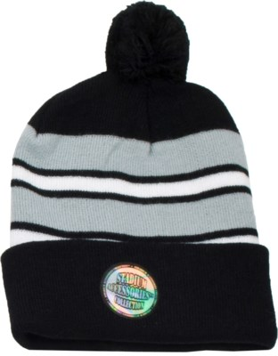 Pom Beanie Black/White/Gray - Stadium Series