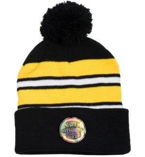 Pom Beanie Black/Gold/White - Stadium Series