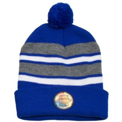 Pom Beanie Blue/Gray/White - Stadium Series