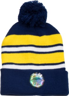Pom Beanie Blue/Gold/White - Stadium Series