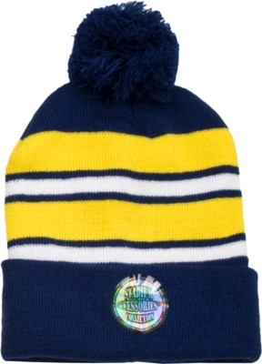 Pom Beanie Blue/Gold/White - Stadium Series