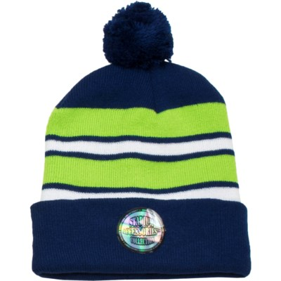 Pom Beanie Blue/Green/White - Stadium Series