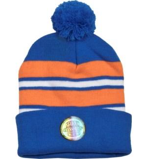 Pom Beanie Blue/Orange/White - Stadium Series