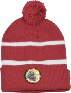 Pom Beanie Crimson/White - Stadium Series