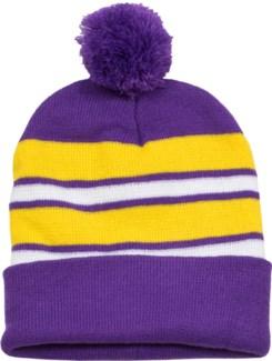 Pom Beanie Purple/Gold/White - Stadium Series