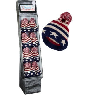 USA Pom Beanie Shipper - 48pcs
