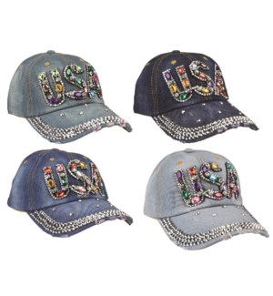 USA Bling Baseball Cap