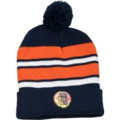 Pom Beanie Navy/Orange/White - Stadium Series