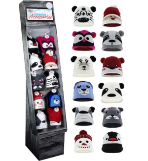 Kid's Winter Face Beanie Shipper - 60pcs