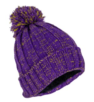 Team Spirit Pom Beanie - Purple/Gold