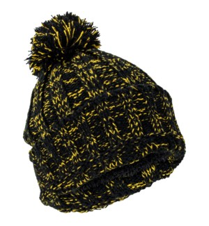 Team Spirit Pom Beanie - Black/Gold