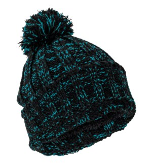 Team Spirit Pom Beanie - Blue/Black