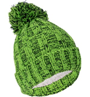 Team Spirit Pom Beanie - Blue/Green
