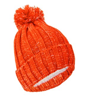 Team Spirit Pom Beanie - Burnt Orange/White