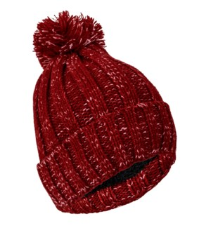Team Spirit Pom Beanie - Crimson/White