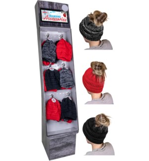 Messy Bun Beanie Display - 60pcs