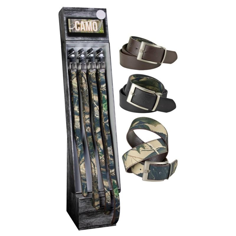 Camo Belts Shipper - 48pcs