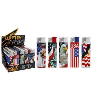 US Flag Electronic Lighter (50/1000)
