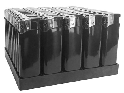 Electronic Lighter Black in Tray (50/1000)