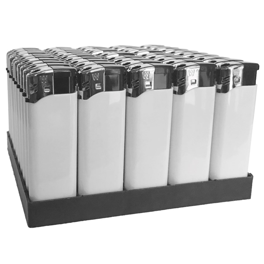 Electronic Lighter White in Tray (50/1000)