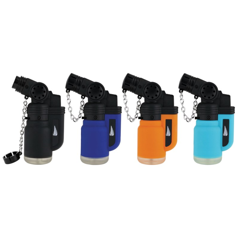 Soft Smooth Touch Capital Torch Lighter in PDQ (12/480)