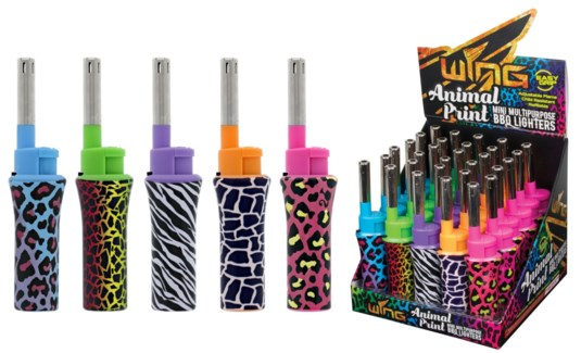 Mini BBQ Lighter Animal Print in PDQ (30/600)