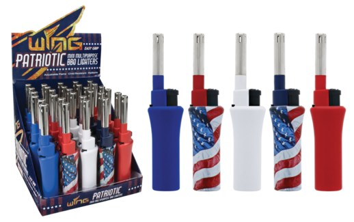 Mini BBQ Lighter USA in PDQ (30/600)