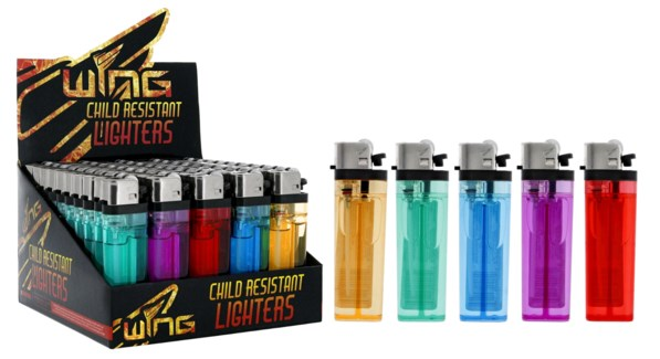 Wing Child Resistant Rolling Light Lighter (50/1000)