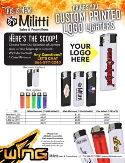 Custom Flint Wheel Lighter in Tray