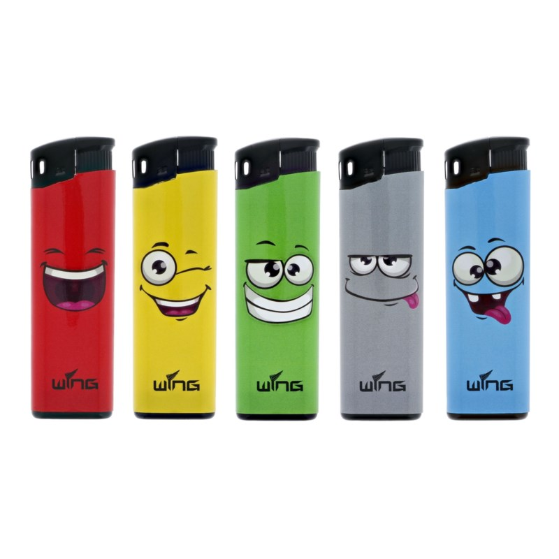 Funny Faces Fixed Flame Electronic Lighter (50/1000)
