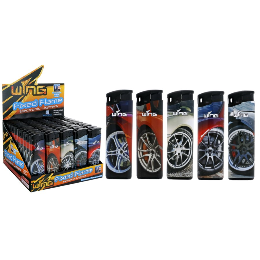 Wheels Fixed Flame Electronic Lighter (50/1000)
