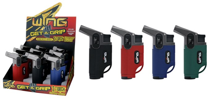 Get A Grip Crocodile Double Torch Lighter (12/240)