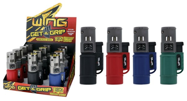 Get A Grip Torpedo Single Torch Lighter (12/240)