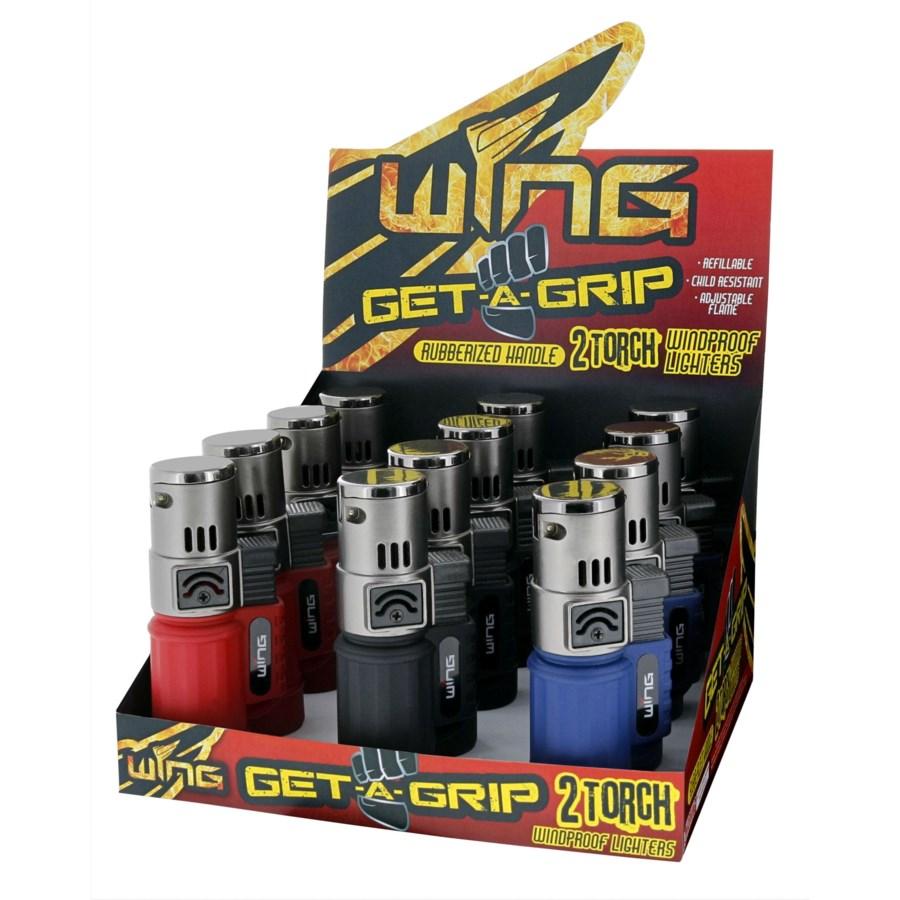 Get A Grip Torpedo Double Torch Lighter (12/240)