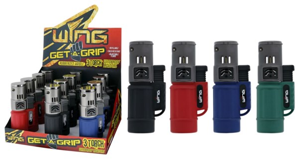 Get A Grip Torpedo Triple Torch Lighter (12/240)