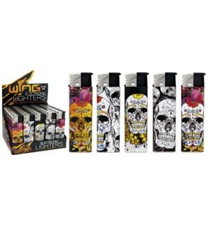 Skull Design Electronic Lighter (50/1000)