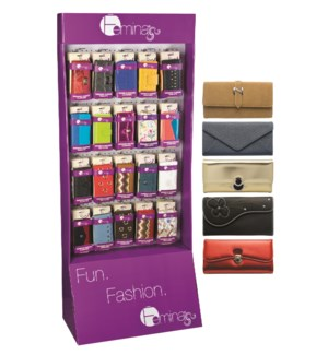 Endcap 60 pc Women's Wallet Assortment with Display