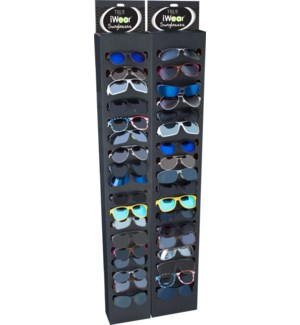 iWear Sunglasses with Black End Cap Display - 144pcs