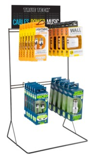 True Tech Tech Accessories Counter Display - Cables and Wall/Car Chargers