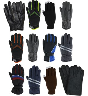 Men's Winter Gloves Mix - 12pcs