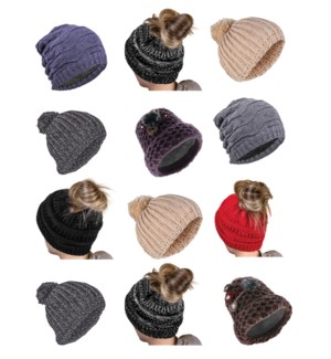 Women's Winter Hat Mix - 12pcs